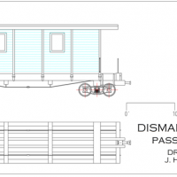 Drawing of Dismal Swamp RR 'coach'
