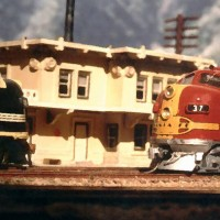 F-7's meet at Devore on my N scale Cajon Pass layout