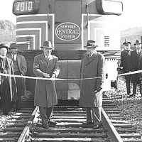 Dedication of new Gulf Curve tracks, ESE