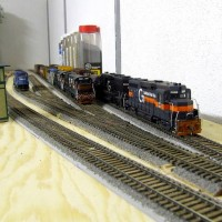 Yard Tracks With Two Testtrains