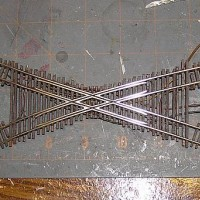 N Scale handlaid crossing
