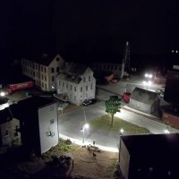 Night view, HO scale layout lighting