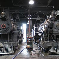 Inside Nevada Northern Ry Roundhouse
