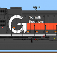 NS Heritage SD70ACe What-If? Guilford Rail System Livery