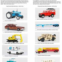 Seventeenth Annual N Scale Vehicle of the Year Awards Sample Ballot