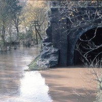 Point of Rocks tunnel during the flood of Nov 1985