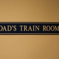 Train Room Sign