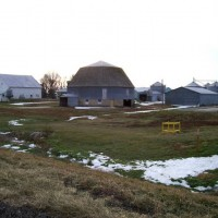 Round barn S. of Chatum, IL.