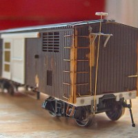 Kitbashed/modified IHC HO scale IC ventilated boxcar