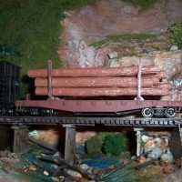 Cedar Branch & Western log car