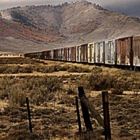Ole freight cars, former WP Loyalton line