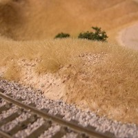 Dry Grass Test in N Scale