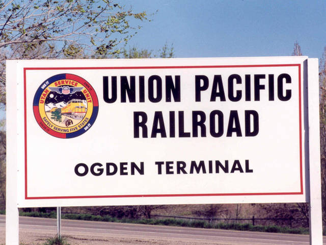 Union Pacific Signs in the Ogden Yards